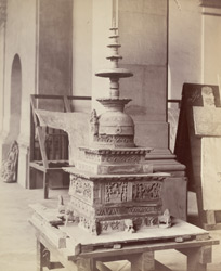 Reconstructed small stupa, Swat Valley